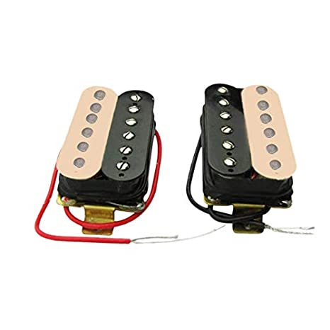 TOOGOO - Juego de pastillas de guitarra eléctrica Humbucker (50 mm + 52 mm) para guitarra Fender Stratocaster Les Paul estilo guitarra de repuesto: ...