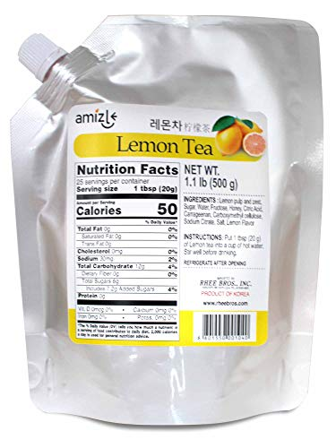 Amizle Lemon Tea, 1.1 Pound