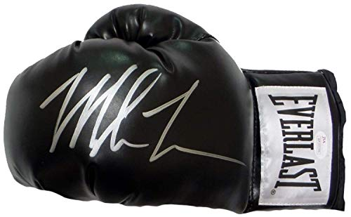 Mike Tyson Signed Autograph Boxing Glove Black JSA Witnessed Certified from Mister Mancave