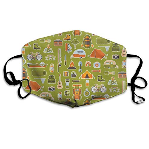 Hongao Anti Dust Pollution Mask Camping Vehicles Reusable Washable Earloop Face Mouth Mask for Men Women ()