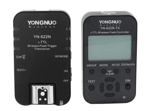 YongNuo Shutter Release Yn-622N-TX wireless flash trigger set TTL flash trigger , Highest technology YN-622N 1 x TX + 1 x RX i-TTL LCD wireless flash controller wireless flash trigger transceiver DSLR for Nikon D70, D70S, D80, D90, D200, D300S, D600, D700 by Yongnuo