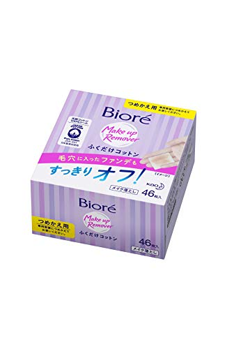 Biore Kao Makeup Removing Cotton Sheet Refill, 46 Count
