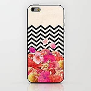 QJM Corrugated Peony Pattern hard Case for iPhone 6