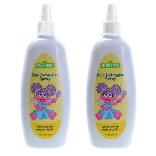 Blue Cross Sesame Street Hair Detangler Spray - 10 oz (Pack of 2) by Budpak
