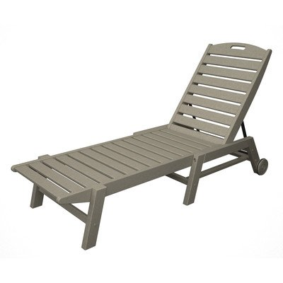 Lounge Chaise Nautical Wheel (Nautical Wheel Chaise Lounge Finish: Sand)