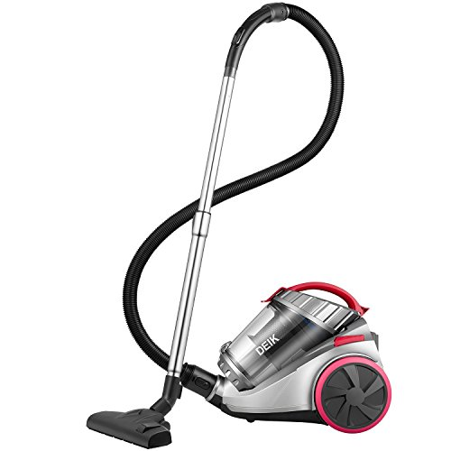 Deik Cylinder Vacuum Cleaner, Bagless Vacuum Cleaner (18Kpa Powerful...
