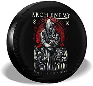 Arch Enemy Melodic Death アークエネミーメロディックデス へタイヤカバー タイヤカバー スペアタイヤカバー タイヤ袋 へタイヤバッグ タイヤトート へタイヤ ホイール 保管 タイヤ 収納 に便利 防日焼け 防塵 防水 厚手生地 劣化対策 長持ち