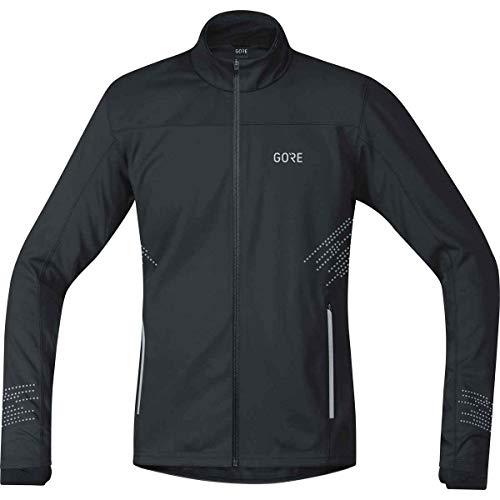 (GORE WEAR Windproof Men's Running Jacket, R5 Gore Windstopper Jacket, L, Black, 100153)