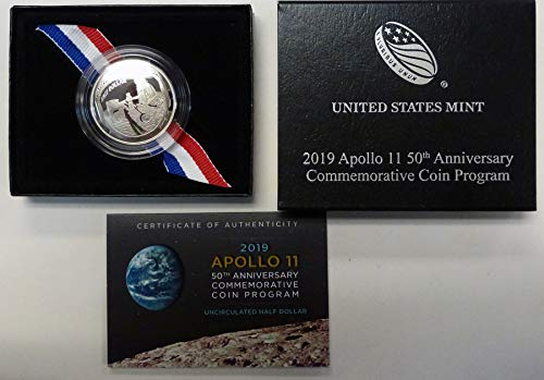 (2019 D Apollo 11 50th Anniversary Commemorative Half Dollar Proof US Mint)