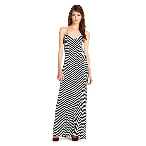 Mossimo Supply Co Women's Striped Spaghetti Strap Long Dress (M, White Stripe) from Mossimo Supply Co