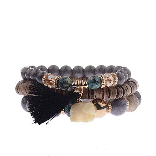 Women's Bracelet Set 3Pcs/Lot Charm Beads Bracelet Jewelry For Ladies 9 onesize