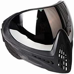 FMA F1 Paintball Airsoft Bike Safety Lunettes Anti-bu/ée//Masque Facial monocouche Complet Chasse Noir Pur, lentille argent/ée