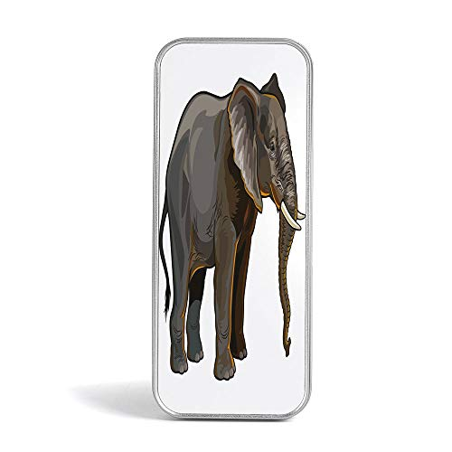 Tin Pencil Case,Animal Decor,Pen Case Organizer for School Office Home,Andalusian Horse with a Majestic Dust Cloud Background Strong Desires Sign Photo