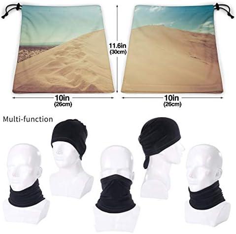 Desert Dune ネックガード 男女兼用 バンダナ 防寒 防風 防塵 花粉 フェイスガード 多機能 マジックスカーフ