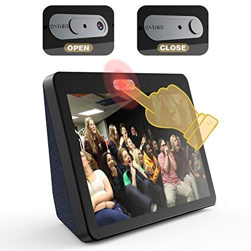 Camera Cover for Echo Show 2nd Generation [2-Pack in Box]-The Webcam Cover can Cover The New Echo Show's Camera Then Protect The Privacy of All Users .Very Easy to Install.Designed by VMEI (Black) (Best Web Cam Show)