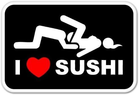 2020 15 8 2cm I Love Sushi Car Sticker Decal Vinyl Funny Car Window Bumper Novelty Jdm Drift Vinyl Decal Sticker From Xymy797 4 63 Dhgate Com