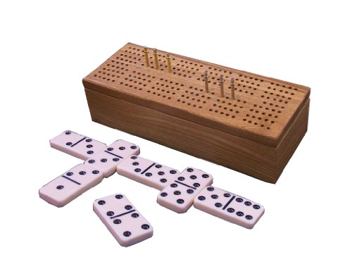 Cribbage Box with Dominoes - Case Cribbage