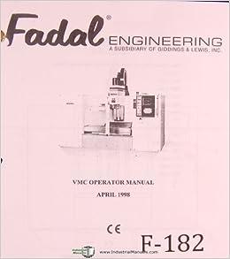 Fadal Vertical Machining Center Operations Programming