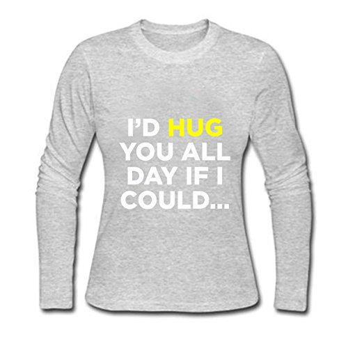VIPxmax Funny Sayings Slogans Soft Simple Lightweight personality Creative Print Signature Long Sleeve women T-shirt Size XS ()
