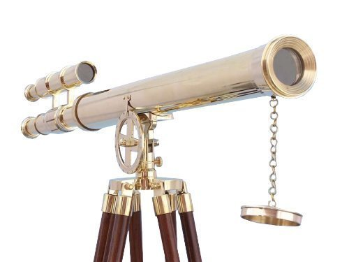 64″Floor Standing Brass Griffith Astro Telescope By Nauticalmart with free Chrome Spike