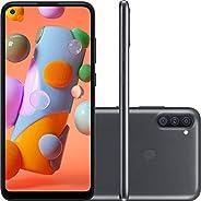 "Smartphone Samsung Galaxy A11 64GB Dual Chip Tela 6.4"" Octa-Core Câmera Tripla 13MP+5MP+2MP Preto, SM-A11"