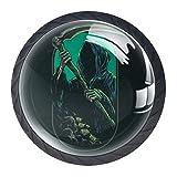 Shiiny Grim Reaper Drawer Knob Pull Handle Glass