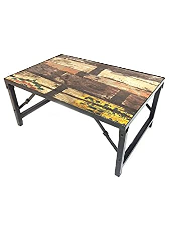 Marrakesch Shabby Chic Old Wood Coffee Table Zuha 90 Cm