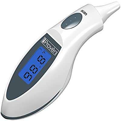 Ear Thermometer ? the Best Medical Infrared Body Temperature Thermometer By Iproven ? 100% Clinically Proven to Be Highly Accurate ? the Et-116A Is an Electronic Highly Convenient Quick Read Ear Thermometer to Measure Temperature Accurately for People Tha