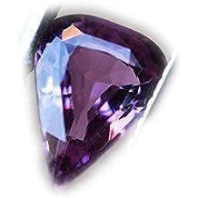 Lovemom 0.71ct Natural Pear Unheated Pinkish-Purple Sapphire Tanzania #W