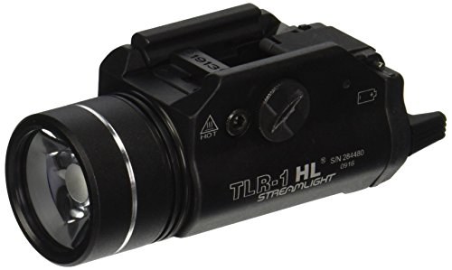 (Streamlight 69264 TLR-1 High Lumen Rail-Mounted Earless Tactical Light with Rail Locating Keys and Lithium Batteries, Black - 800 Lumens)
