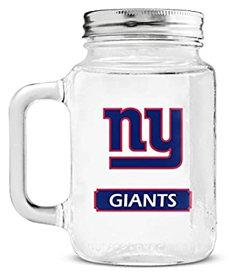 NFL Mason Jar Glass With Lid