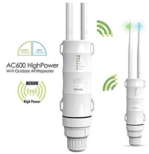 WAVLINK ARIEAL HD2 - AC600 Outdoor WiFi Access Point High Power Dual Band 2.4+5G 600Mbps Wireless Router/AP/Wi-Fi Range Extender 3 in 1 Weatherproof with PoE, Upgrade Version