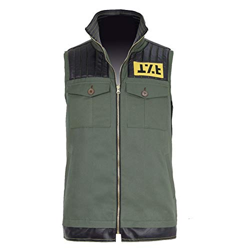 Expeke Mens Frank Lero Ghoul Cosplay Costume Green Vest My Chemical Waistcoat (Men XL, Green Vest)