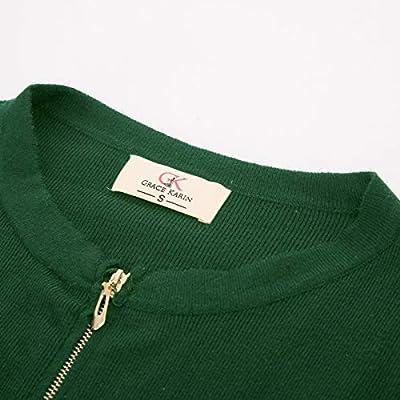 GRACE KARIN Women's Long Sleeve Open Front Knit Cropped Bolero Shrug Cardigan at Women's Clothing store