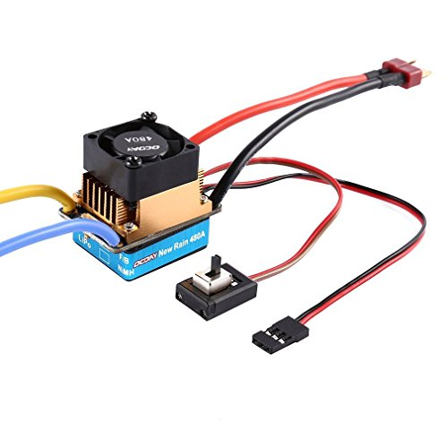 Favrison OCDAY 2-3 Lipo/6-9 NiMH 480A Dual Mode Brush Speed Controller ESC Regulator With Cooling Fan For 1/10 RC Car by Favrison (Image #2)