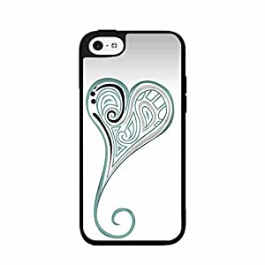 Abstract Heart Designs TPU RUBBER SILICONE Phone Case Back Cover iPhone 5 5s