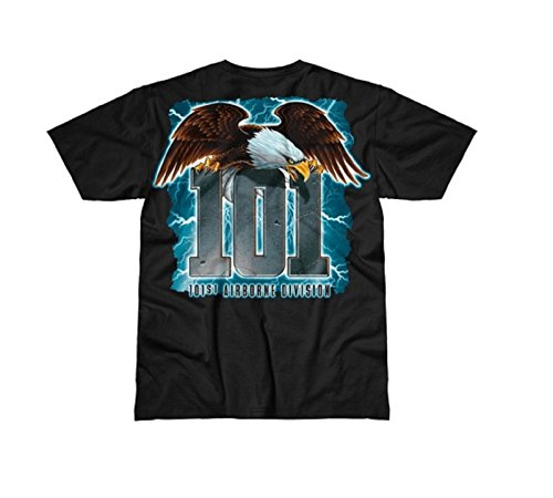 Design Hommes Airborne Screaming Noir Army Eagle T shirt 7 62 101st Battlespace aZg55w