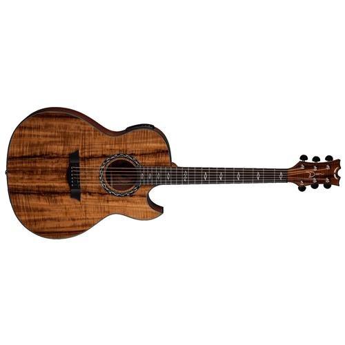 Dean Exhibition thin Body Acoustic-Electric Guitar w/Aphex Koa (Dean Preamps)