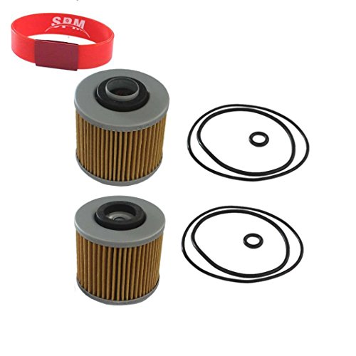 SPM 2PCS Oil Filter for Yamaha V Star 1100 650 Virago 1100 1000 920 750 - Oil 1100 Filter V-star