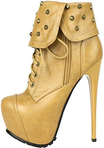 Damen 16CM Stiefel Cafree Schuhe Stiletto Calaier Selbstbindung vR6786