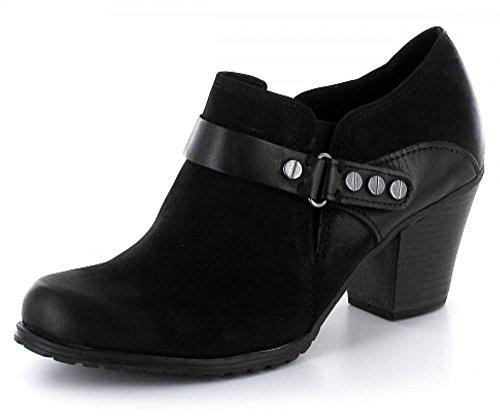 Marco Tozzi Mujeres Zapatos de tacón negro, (BLACK ANT.COMB) 2-2-24423-25-096