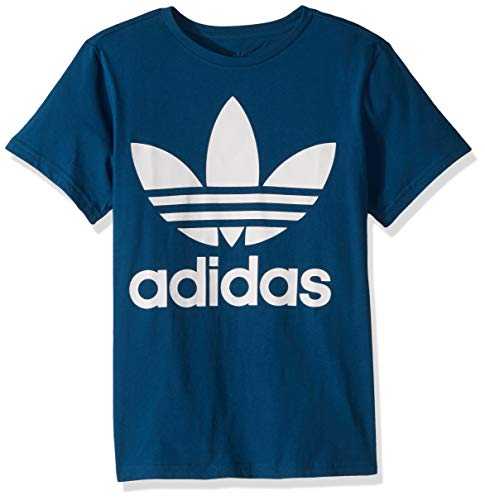adidas Originals Boys' Big Trefoil Tee, Legend Marine/White, X-Small