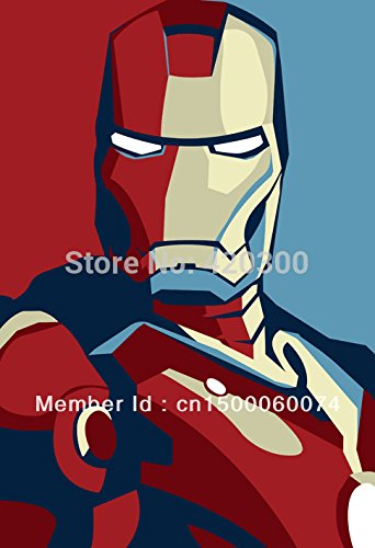 Iron Man In Blue And Red Movie Silk Printing Wall Poster