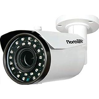 "Northern Video HDBVFIR120 4-in-1 Full HD 1080p Outdoor Bullet Camera, White, 1/2.9"" Sony CMOS Sensor, 2.8~12mm Varifocal Lens, 30 IR LED's/120' IR Range, True Day/Night, 12 Volt DC Power"