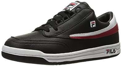 Fila Men's Original Tennis Fashion Sneaker, Black/White/Fila Red, 8 M US