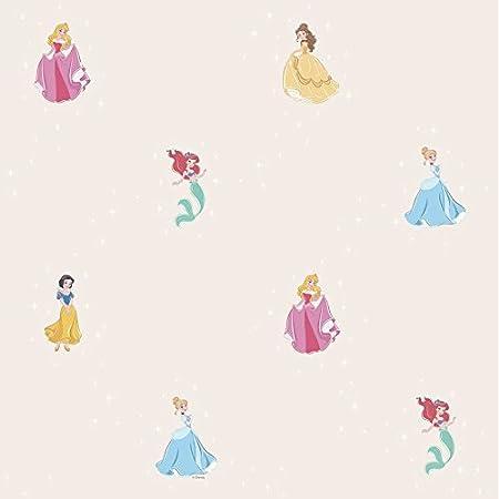 Wallpaper Camerette Taupe Disney Princess Fantasy Deco DANDINO Pr3025