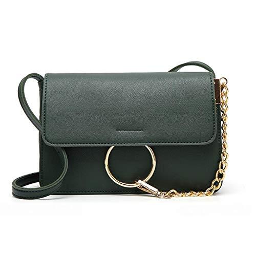 Women Bag Small Fashion Pu Side Ring Chain Hongge E Simple Shoulder Girl FtqExwwz