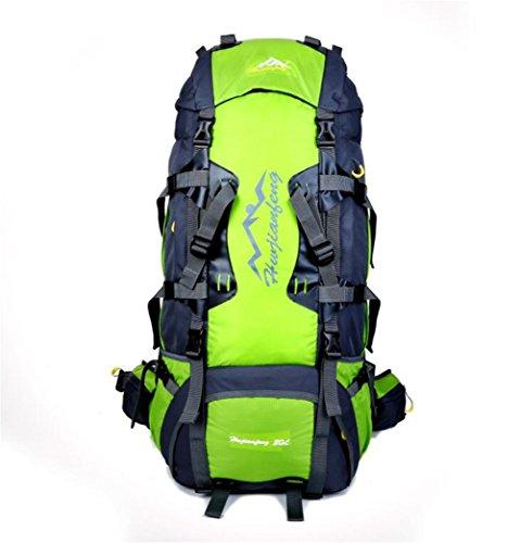 Wmshpeds Bolso de múltiples funciones del alpinismo del litio de 80L bolso de hombro masculino del recorrido de los deportes al aire libre de nylon F