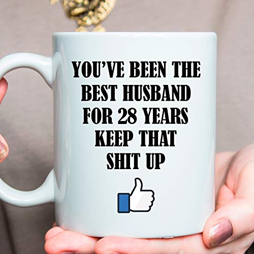 Image Unavailable. Image not available for. Color 28th Anniversary Present ... & Amazon.com: 28th Anniversary Present Best 28 Year Anniversary Gifts ...