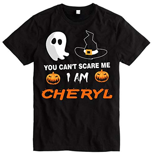 Cheryl Halloween Letter (Women Halloween Shirt - You Can't Scare Me I Am Cheryl - Funny Gift for Friend, Family Halloween Customers Shirt)